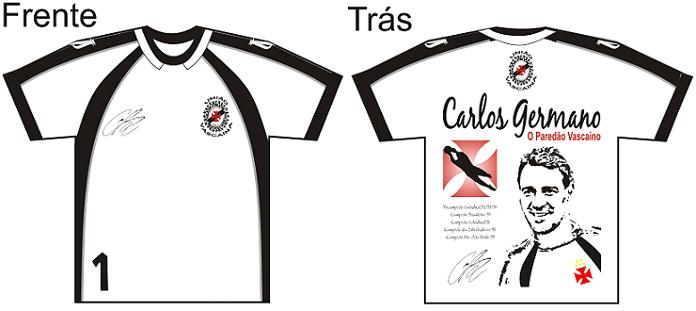 3493d141f5 NETVASCO - União Vascaína lançou camisa em homenagem a Carlos Germano