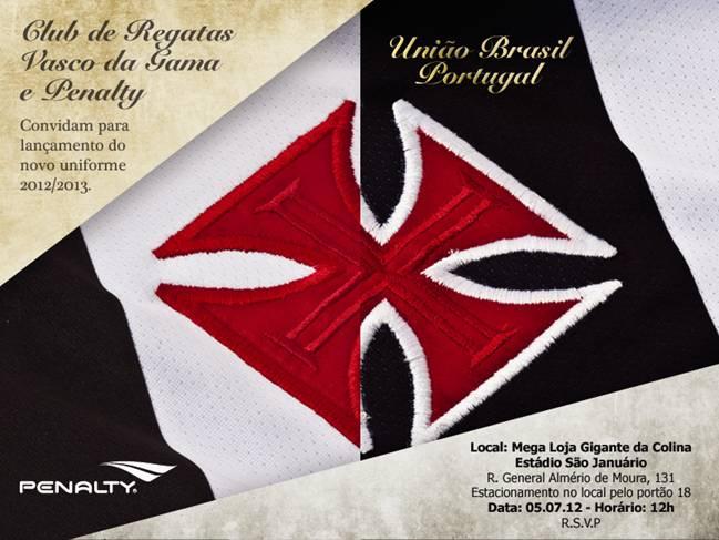 Confira o convite de lançamento do novo uniforme do Vasco - NETVASCO 042eedb7929ee