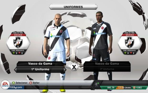 Lançada atualização com nome e uniforme oficial do Vasco no Fifa 13 -  NETVASCO d957244b552d8