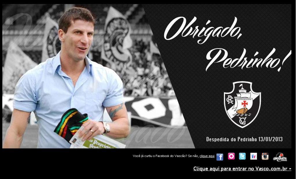 Veja homenagem a Pedrinho no site oficial do Vasco - NETVASCO f4e2d2a92c655