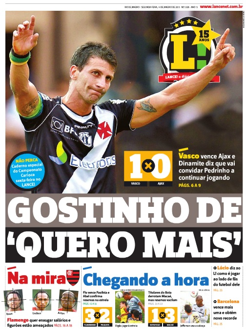 Veja como a imprensa destacou a despedida de Pedrinho - NETVASCO a02d2e0e12dac