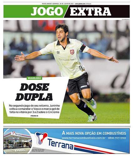 d079975c93 Veja como a imprensa carioca destacou a vitória do Vasco sobre o ...
