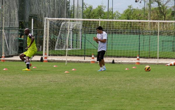 Sandro Silva no treino do Vasco