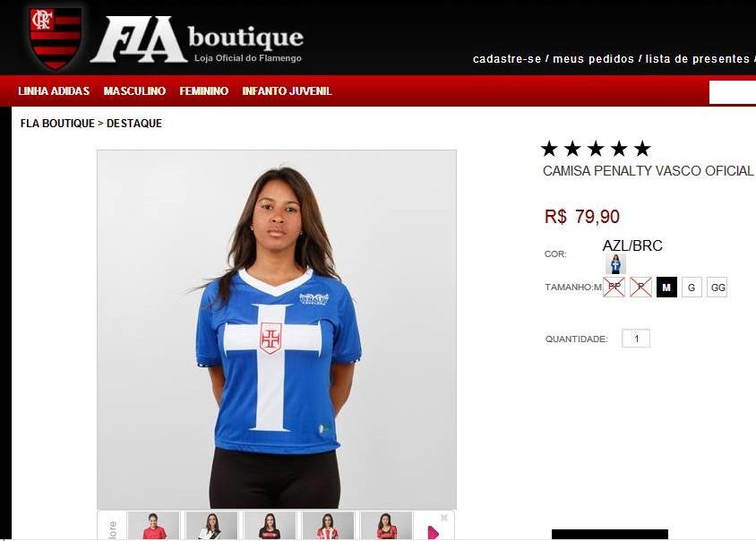 Loja do Urubu vende camisa do Vasco e vira piada na internet - NETVASCO e79d21869e8b8