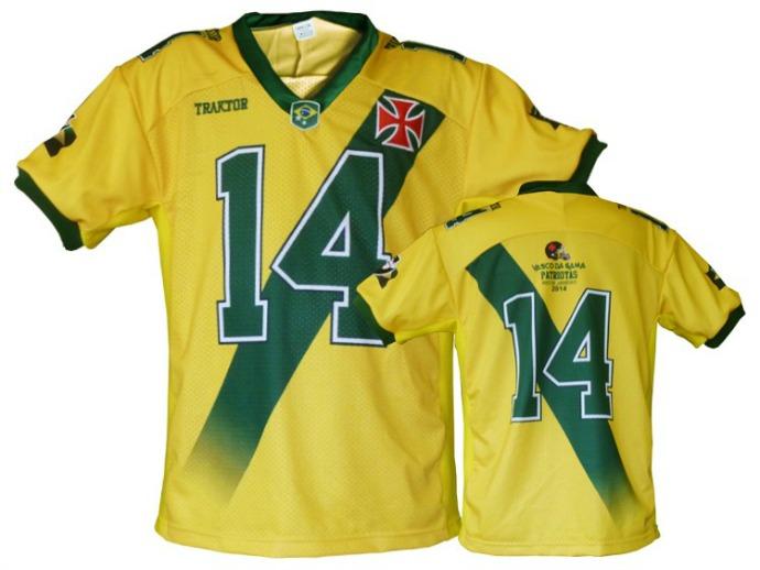 b4b59b5084 Futebol Americano  Vasco Patriotas lança versão verde-amarela da ...