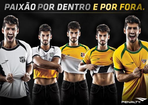 Camisas reversíveis de Ceará, Figueirense, Santa Cruz, Vasco e São Paulo