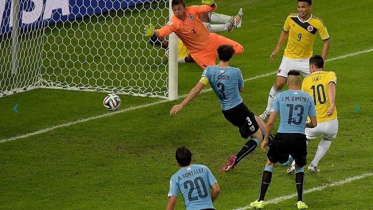 d1f1f69de1cfb Uruguai de Martín Silva perde para a Colômbia e é eliminado da Copa ...