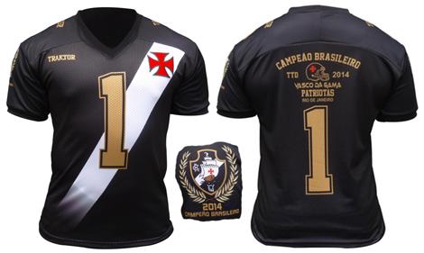 76d0c174a9 Futebol Americano  Vasco Patriotas lança camisa comemorativa do título do  Torneio Touchdown - NETVASCO