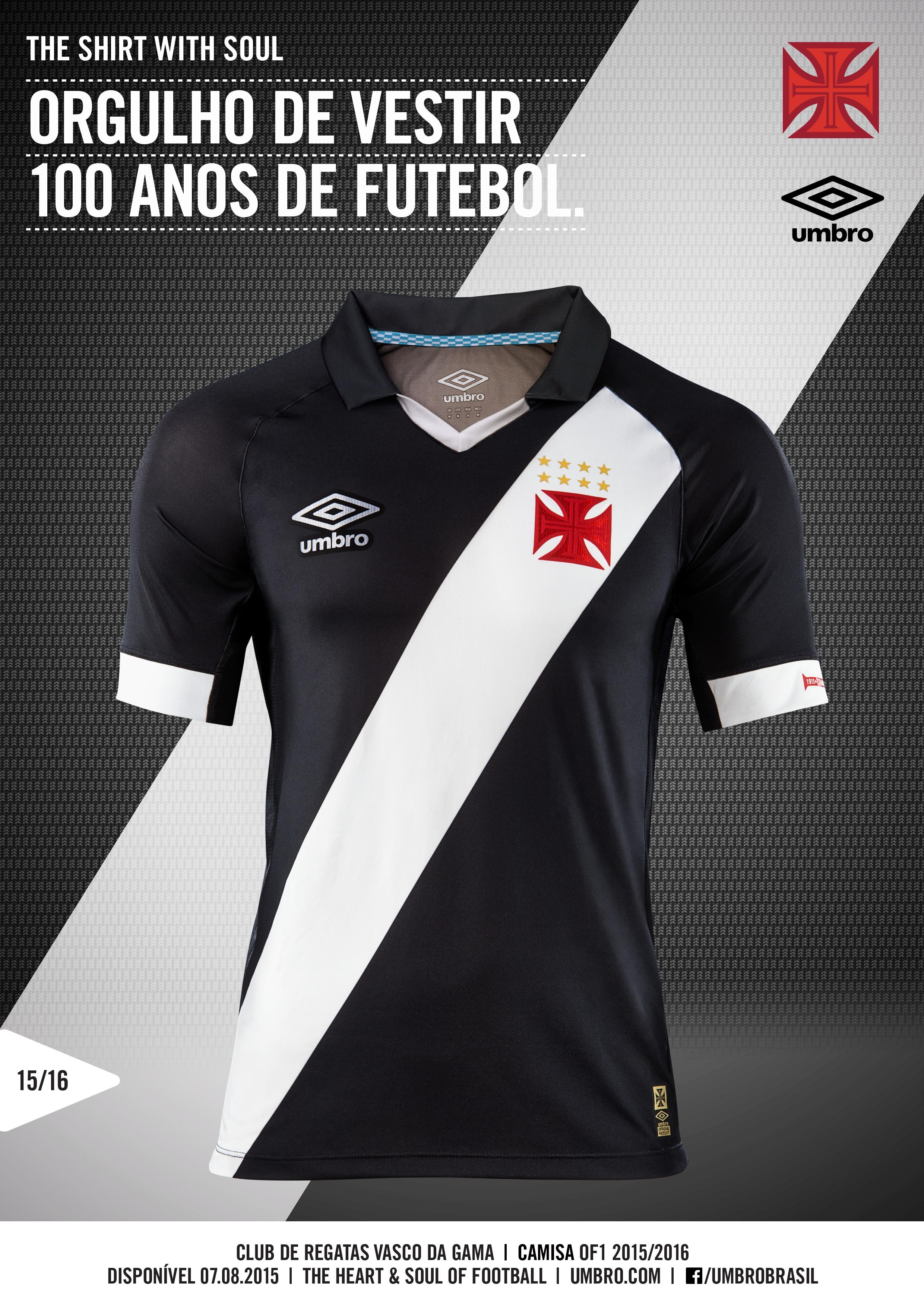 Veja fotos das novas camisas do Vasco 103e4bbb92f92