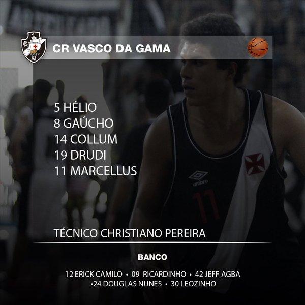 Basquete  Confira escalação oficial do Vasco para o jogo desta 5ª-feira -  NETVASCO 2f683cb948a7e