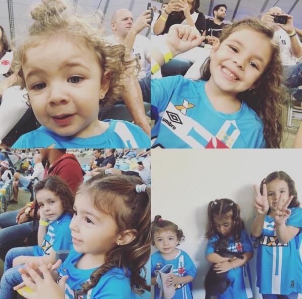 09860056f990c Martín Silva publica fotos de suas 3 filhas com uniforme do Vasco ...