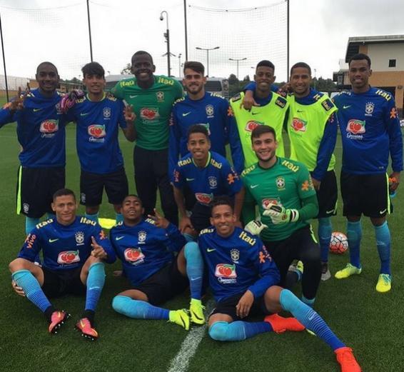 Caio Monteiro posta foto em treino da Seleção Brasileira Sub-20  confira -  NETVASCO b51a2cd456992