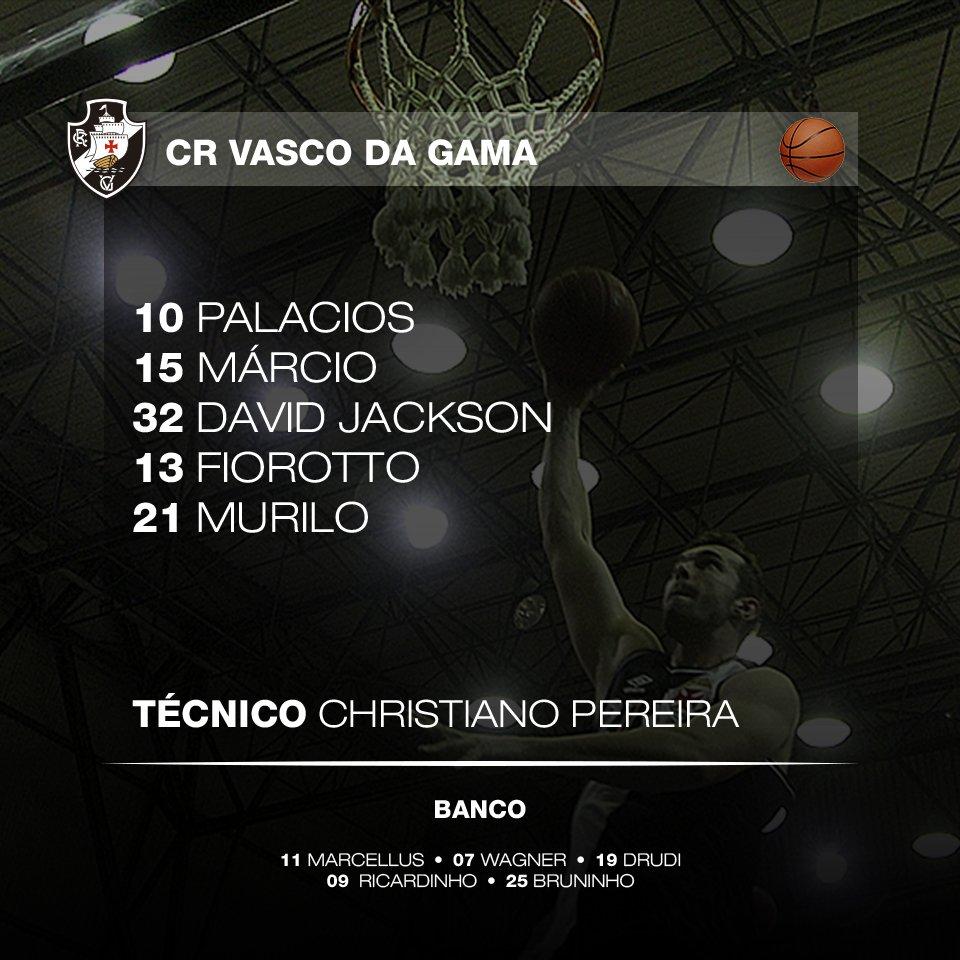 Basquete  Confira escalação do Vasco para o jogo contra o Macaé - NETVASCO 2b7e4fd26bcff