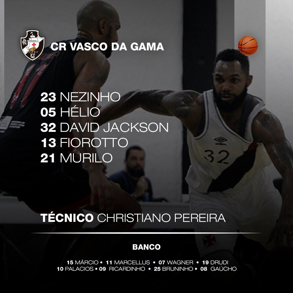 Basquete  Confira escalação do Vasco para jogo desta 5ª-feira  David  Jackson volta ao time - NETVASCO a566167c2a0b4