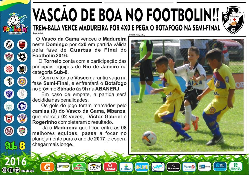Vasco goleia o Madureira e fará semifinal do Footbolin Sub-08 contra ... 4b5d08da7a239