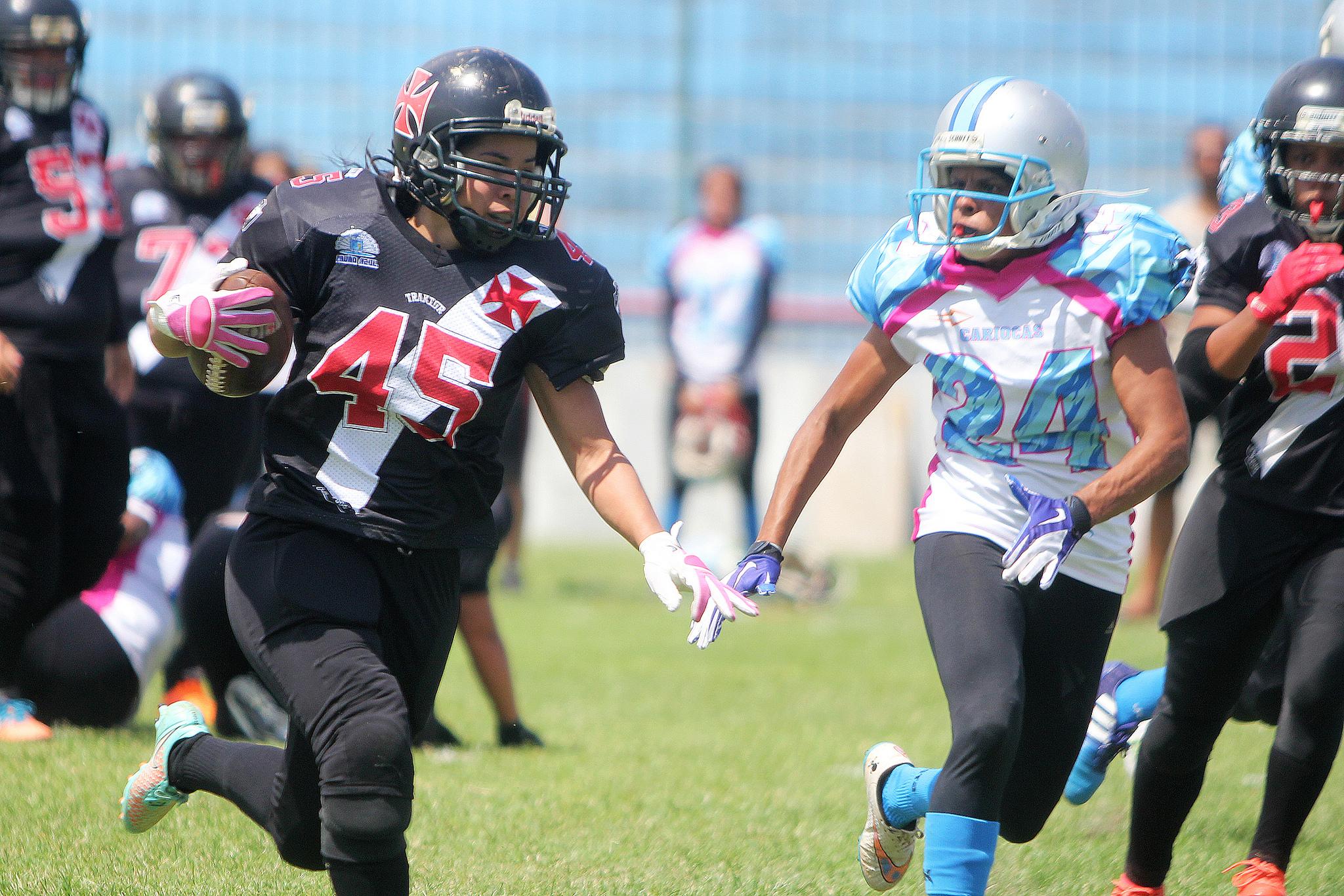 Futebol Americano Feminino  Vasco perde para o Cariocas e fica sem ... ac699adbb69c1