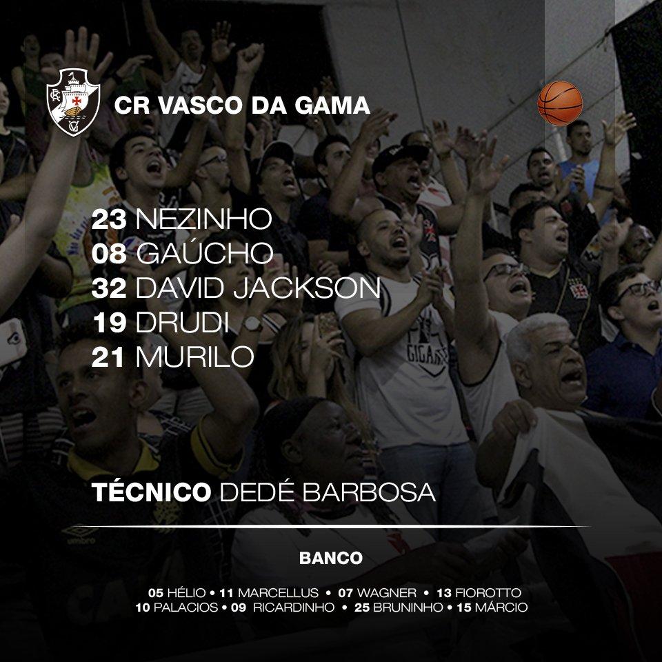 Basquete  Confira a escalação do Vasco para o jogo contra o Minas - NETVASCO 411466b45b97d