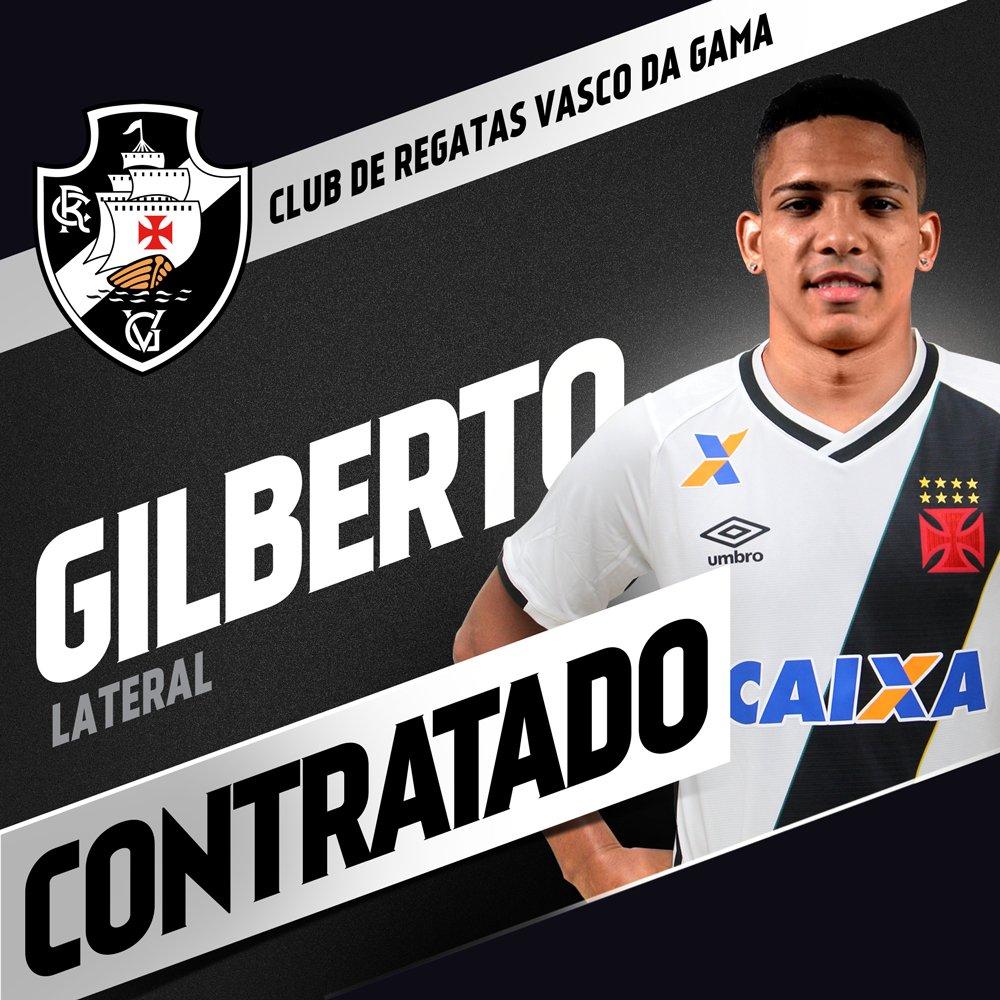 1e7ae8fe63 Vasco oficializa contratação de Gilberto - NETVASCO