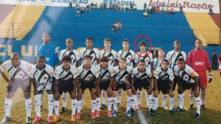 Guilherme Costa no começo de 2009; Yago, Marquinhos do Sul e Henrique, os três com jogos pelo profissional, também estão na imagem