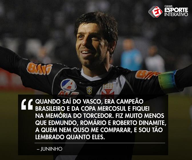 Juninho Pernambucano fala sobre sua idolatria no Vasco - NETVASCO 2a10e6c3909bd