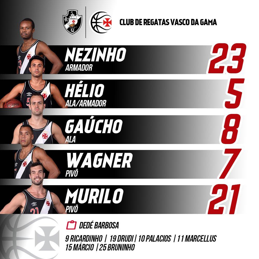 Basquete  Confira a escalação do Vasco para o jogo contra o Franca -  NETVASCO 8a057a2448a1a
