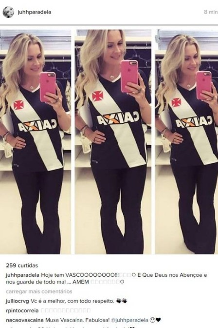 Mulher de Luis Fabiano publica foto com camisa do Vasco antes do ... 0a5036338e6ee