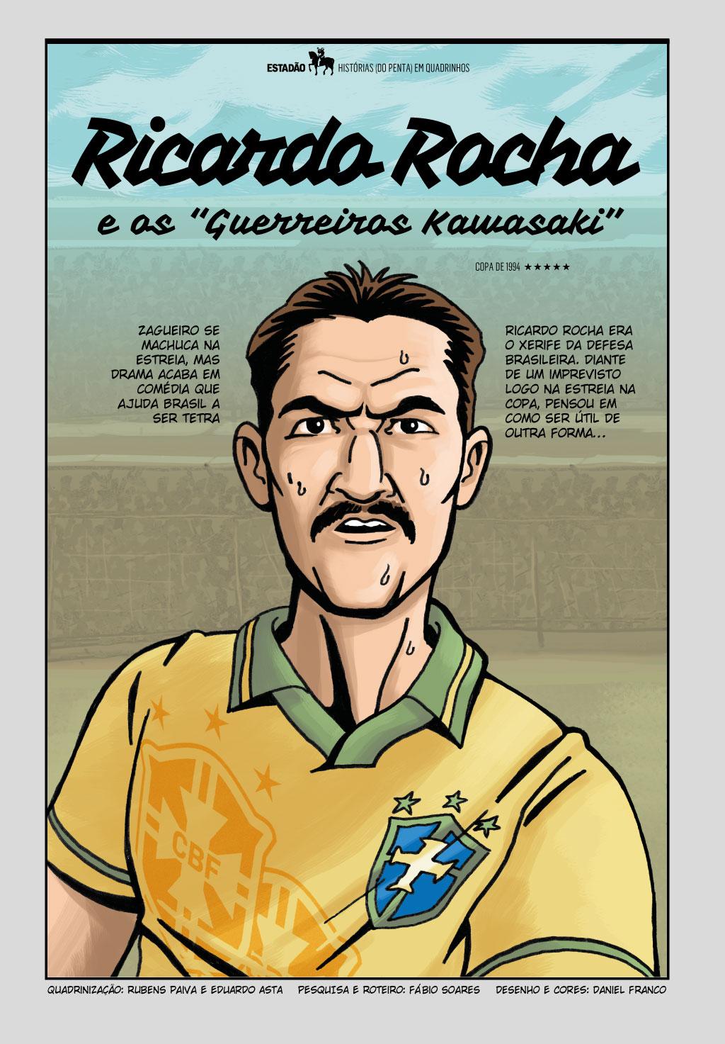Veja a participação de Ricardo Rocha na Copa do Mundo de 1994 em quadrinhos  - NETVASCO 6bb7622a2565a