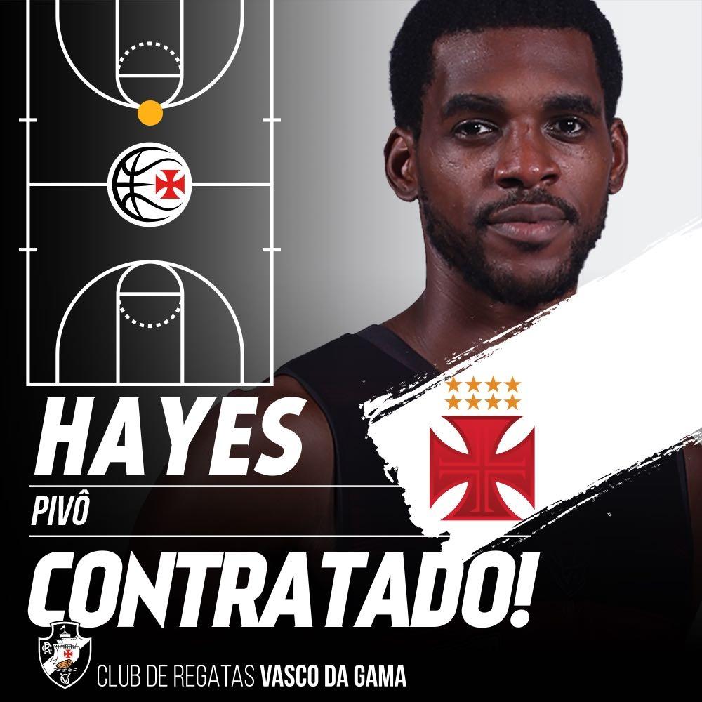 Basquete  Vasco acerta com o ala pivô Chris Hayes  94ae0682da4bf