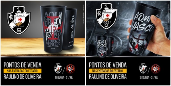 Copos dos 90 anos de São Januário estarão à venda no Raulino de ... c9ab303afbead