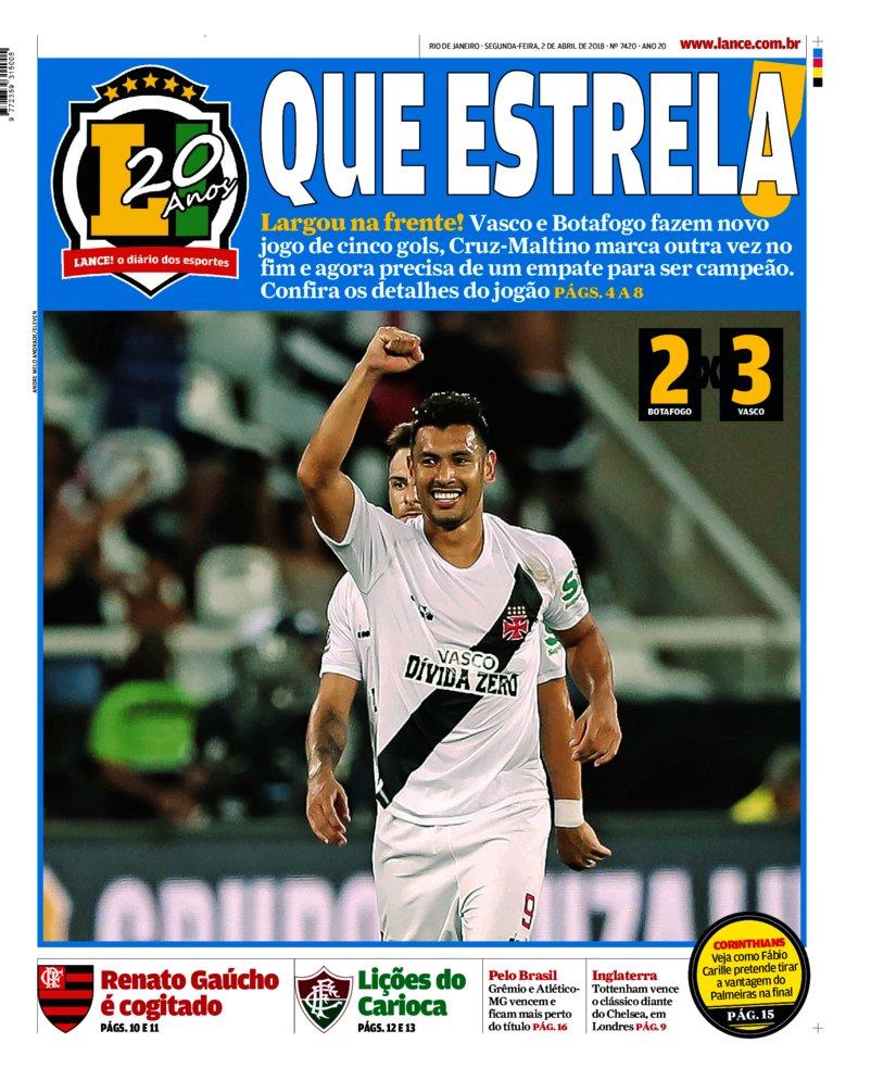 c9d9ad5551 Veja como a imprensa destacou a vitória do Vasco no 1º jogo da ...