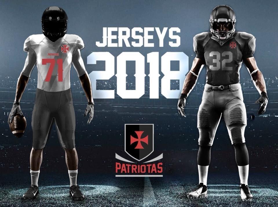 6bd895a6b Futebol Americano  Vasco Patriotas divulga seus uniformes para a ...