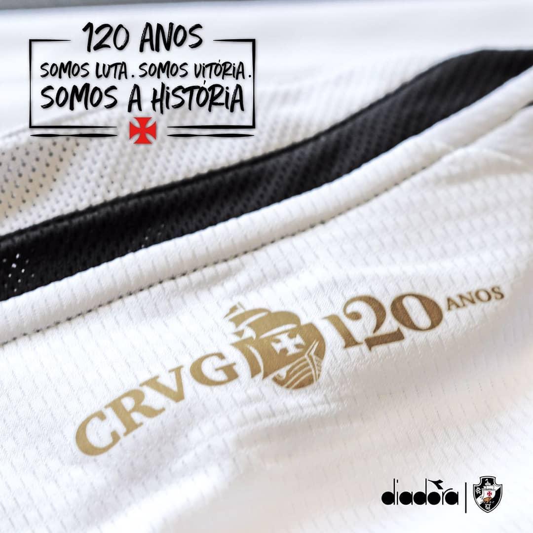 2709e39b45f84 Diadora começa a divulgar detalhes da nova camisa do Vasco