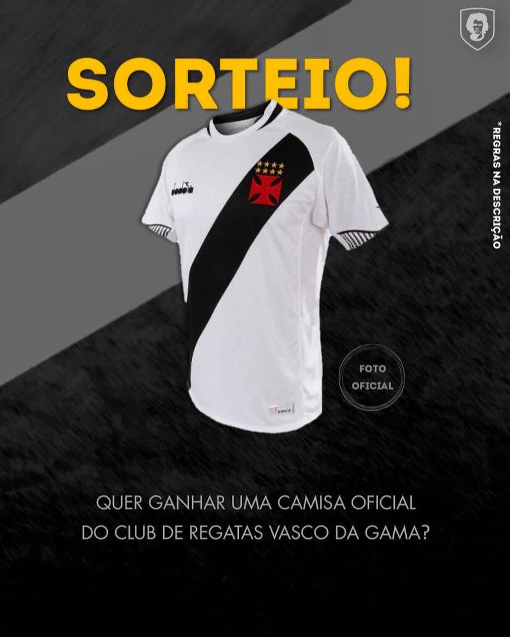 Roberto Dinamite sorteará camisa oficial do Vasco autografada em seu ... c67cdd3d91ec0