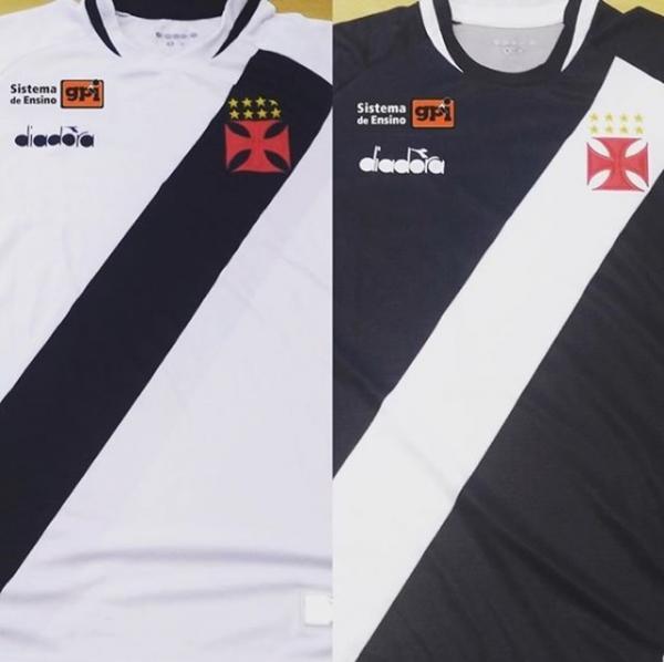 Camisas do Vasco com a marca do GPI estampada