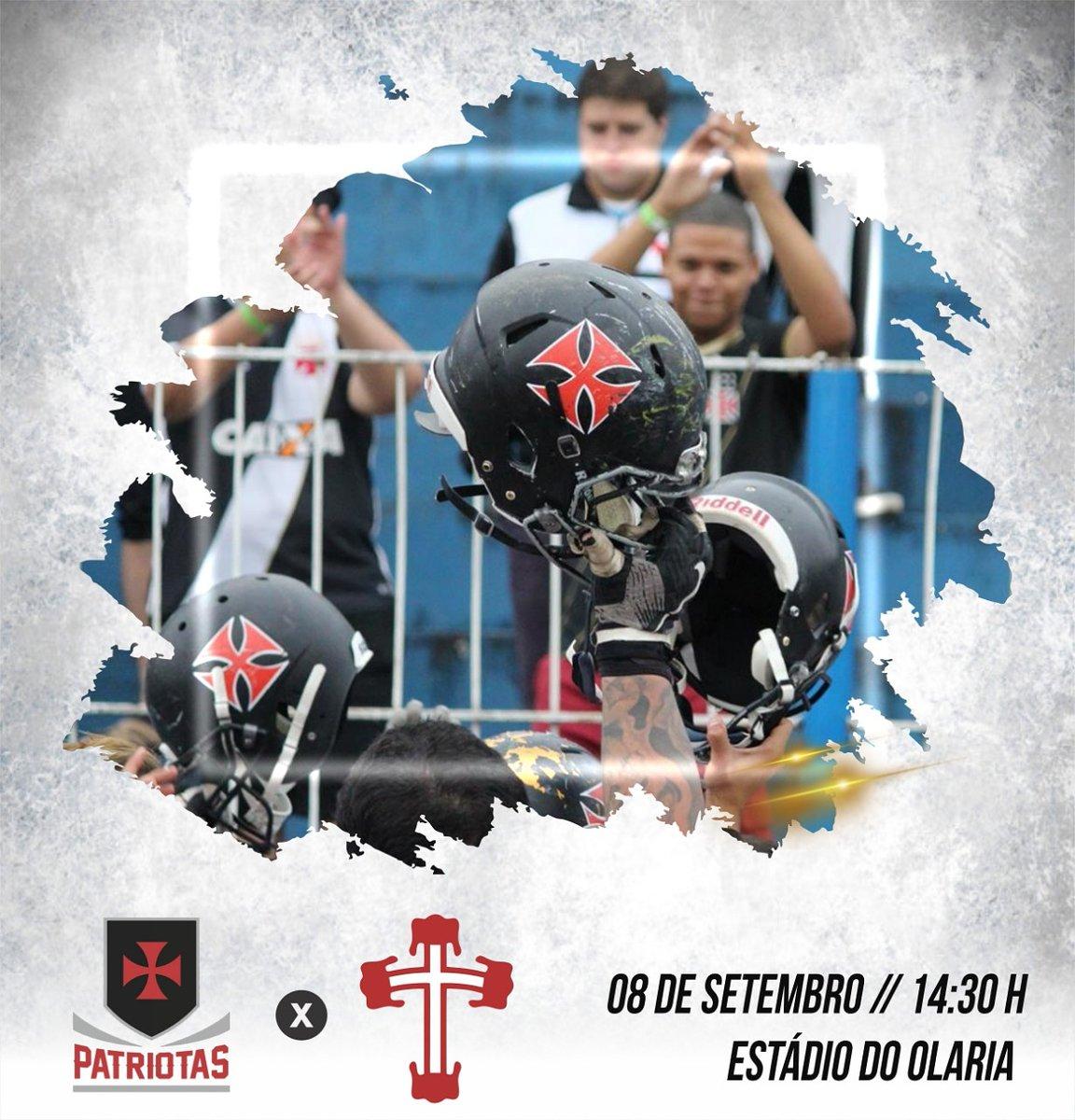 Futebol Americano  Vasco Patriotas enfrenta a Portuguesa neste ... 1e4033ae483cc