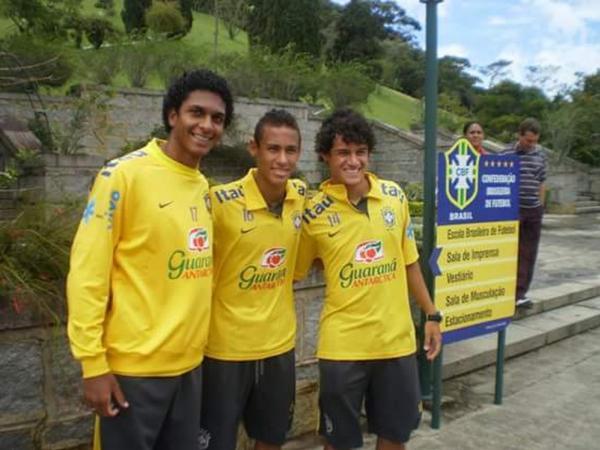 Willen, Neymar e Coutinho jogaram juntos na base da seleção brasileira