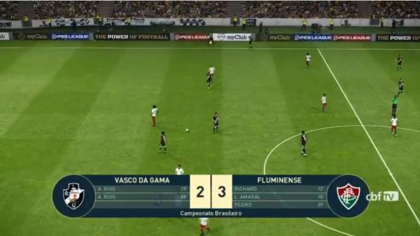 Vasco 2 x 3 Fluminense, pelo e-Brasileirão