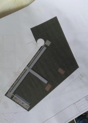 Planta do projeto do CT com sete campos e hotel
