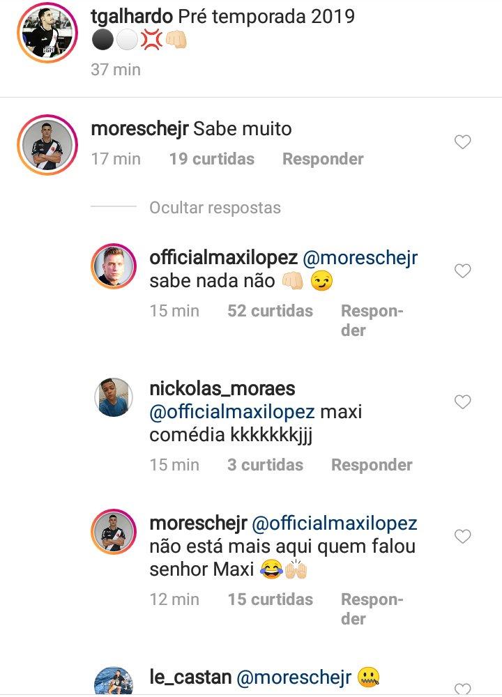 Jogadores do Vasco  resenham  em rede social  veja  52e8c1cd4d7e4