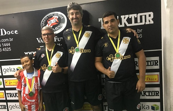 Kaiky Adriano (BAC), Lauro Couto (CRVG), Paulo Costa(CRVG) e Abel Cêpa (CRVG)