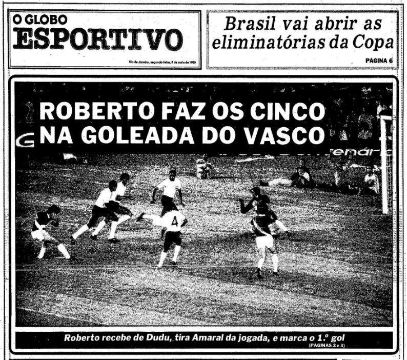 Capa de O Globo Esportivo