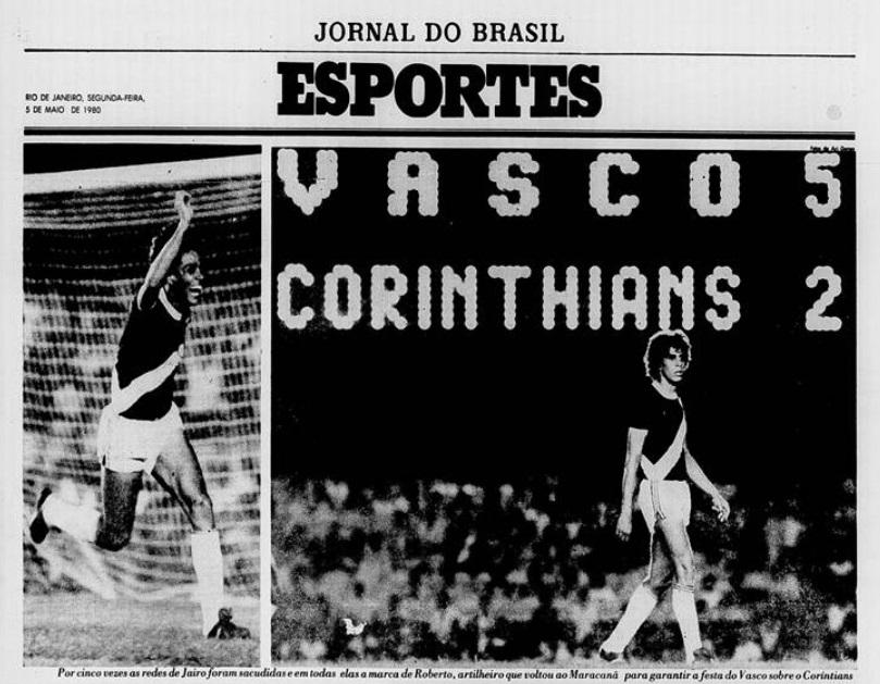 Capa do Caderno de Esportes do Jornal do Brasil
