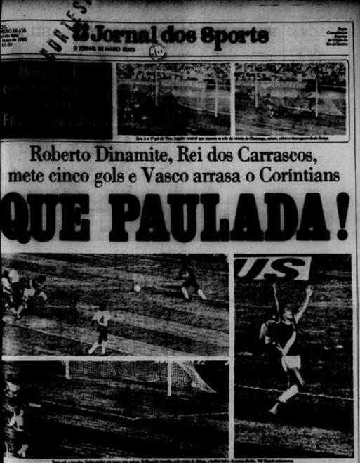Capa do Jornal dos Sports