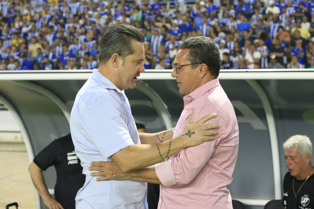 Argel e Luxemburgo no Rei Pelé antes do jogo CSA x Vasco