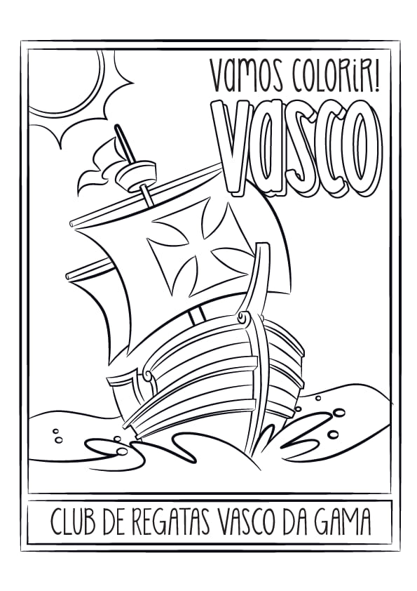 Vasco Divulga Imagem De Caravela Para Colorir Veja Netvasco