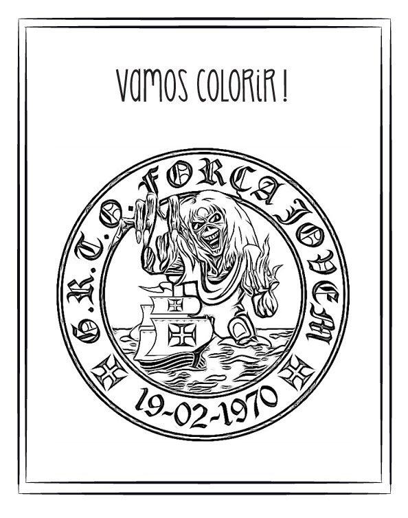 Veja Simbolo Da Forca Jovem Do Vasco Para Colorir Netvasco