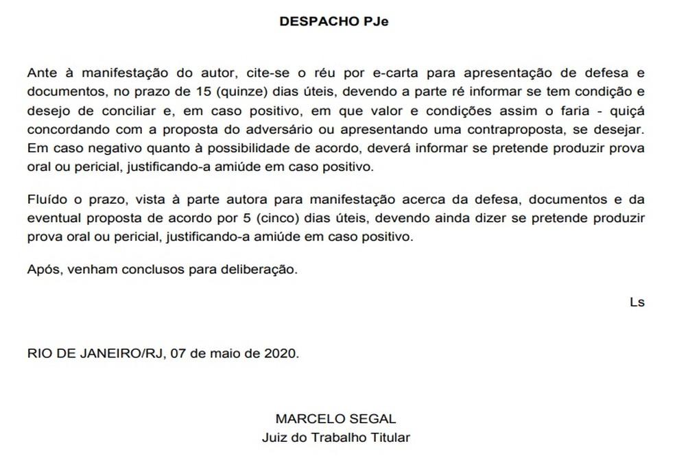 A manifestação do juiz quanto à oferta de acordo proposta por Nenê