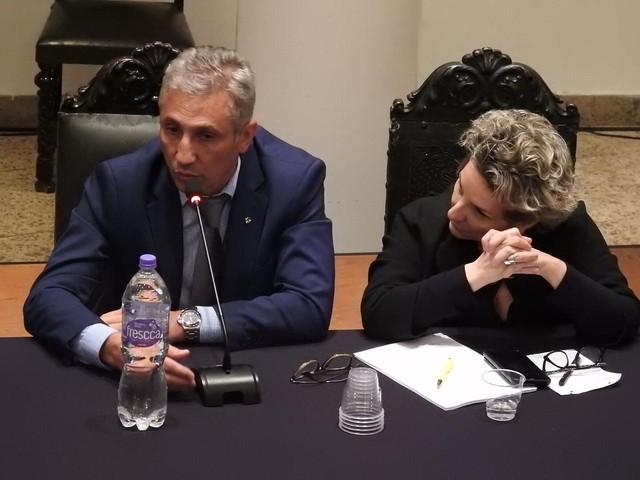 Alexandre Campello e segunda vice-presidente geral do Vasco, Sonia Maria Andrade dos Santos