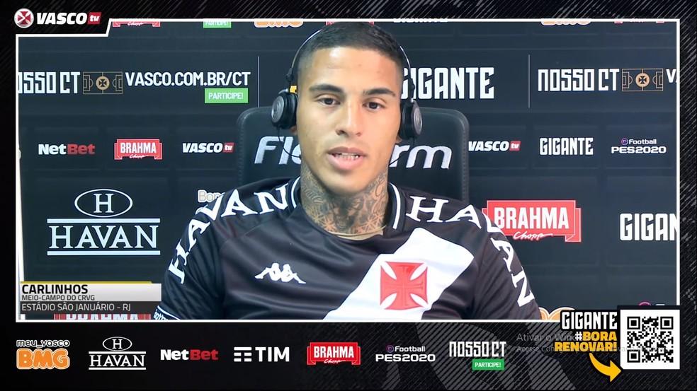 Carlinhos é apresentado como reforço do Vasco