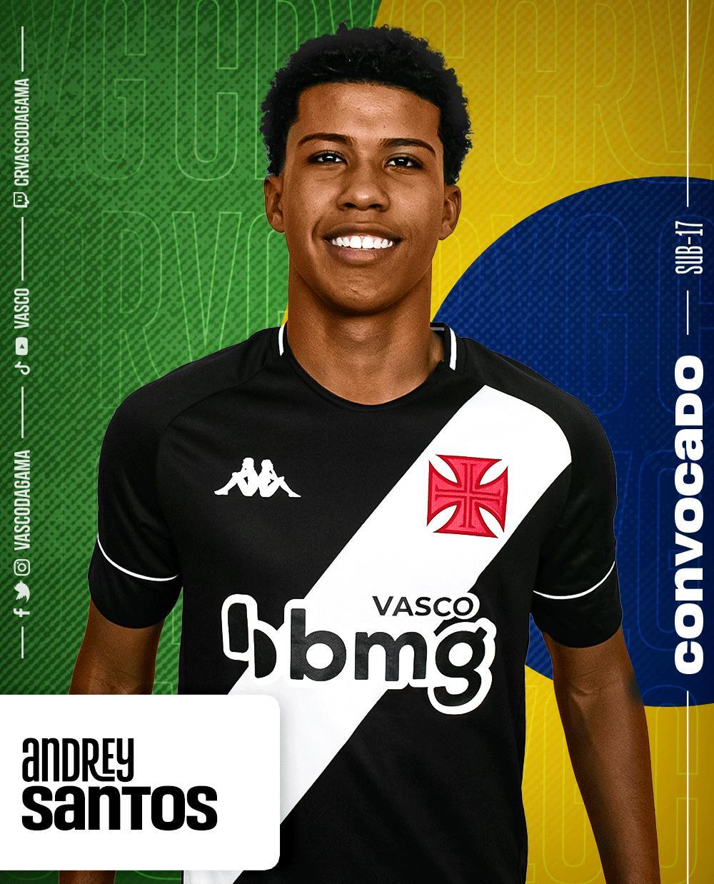 Andrey é convocado para Seleção Brasileira Sub-17